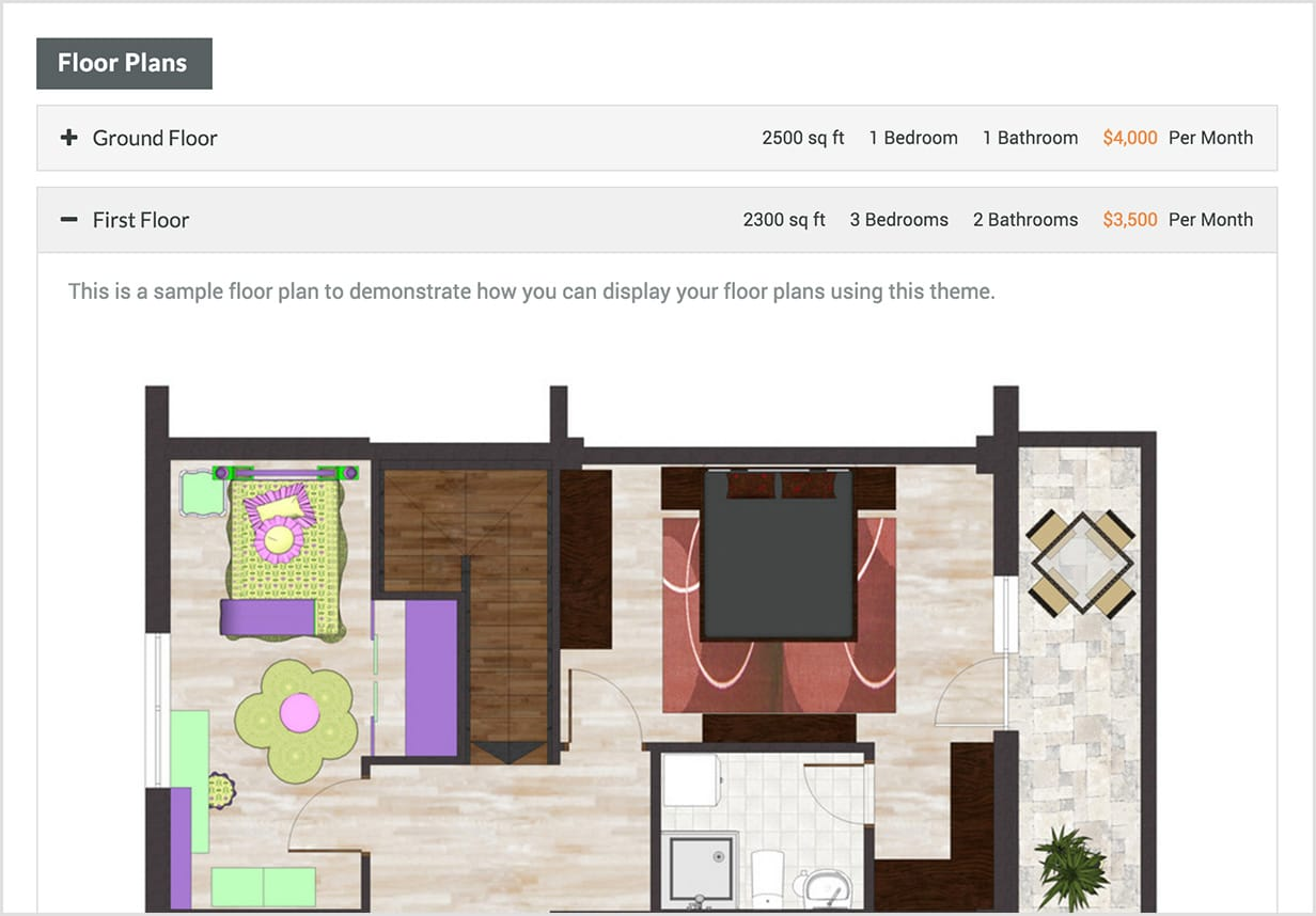 Add Property Floor Plans