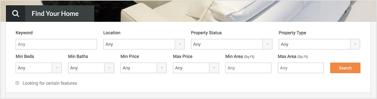Advanced and Fully Customizable Search Form