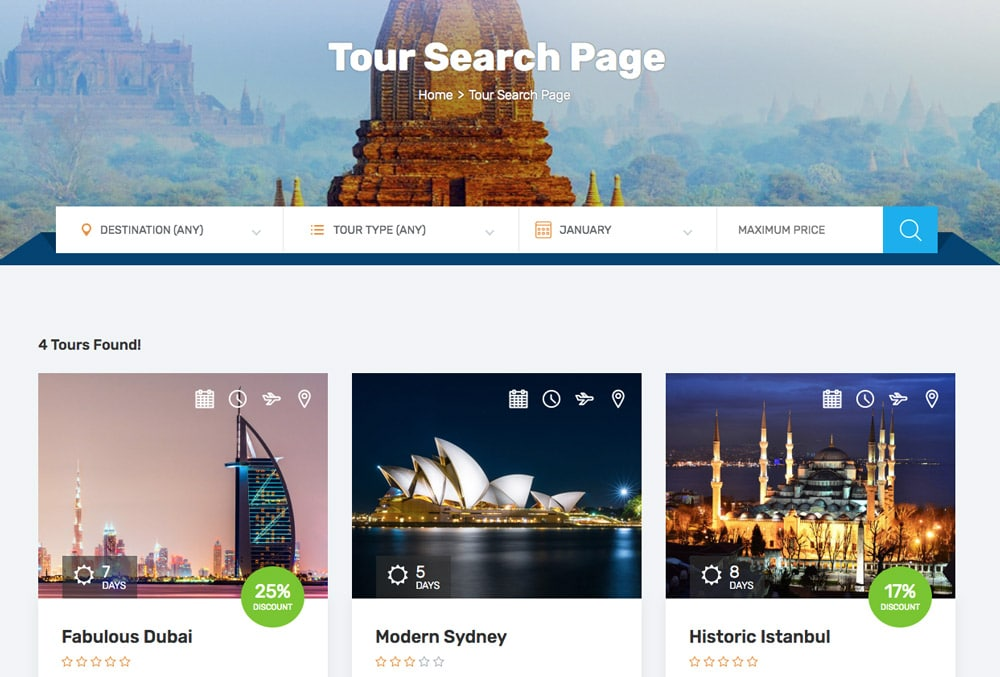 Tours Search